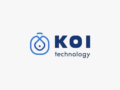 Koi Technology Logo Design icon symbol corporate identity software development koi fish technology visual identity branding logotype logomark logo design logo