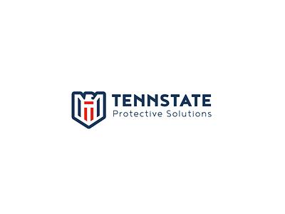 Tennstate Logo Design security shield eagle branding brand identity mark logo logotype