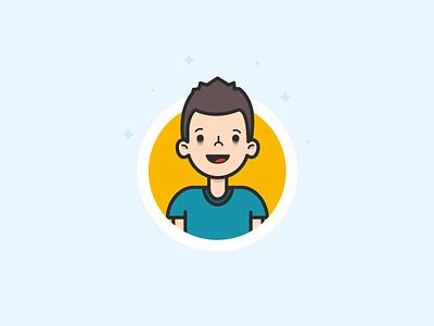 Character Illustration flat face avatar character vector illustration