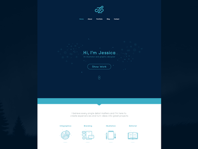 Personal Website Redesign clean portfolio redesign website web
