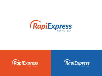 Rapiexpress Logo Design courier shipping rapiexpress mark logotype brand identity branding logo