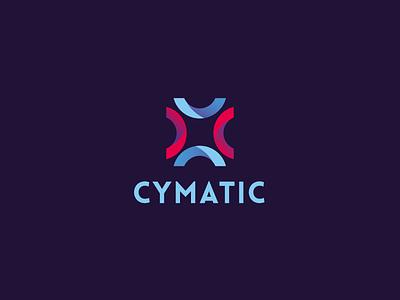 Cymatic Logo cymatic branding brand identity mark logo logotype