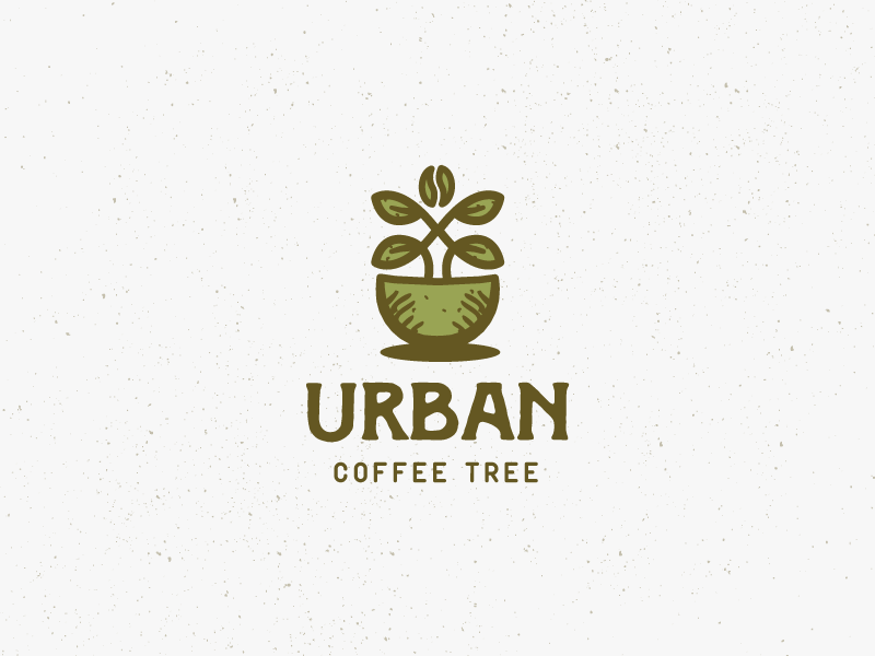 Urban coffee tree logo