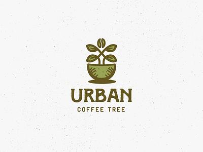 Urban Coffee Tree urban coffee tree coffee symbol brand identity branding mark identity logo design logo