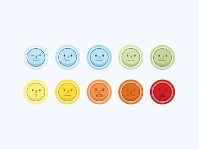 Emoji Set borg scale expressions emoticon emoji set emotions illustration faces emojis