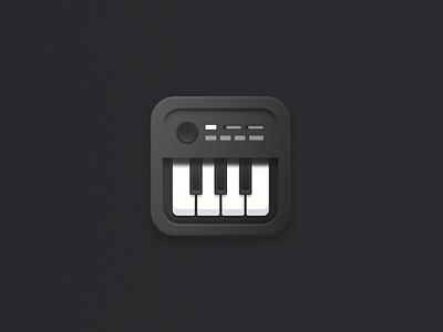 Piano square piano vector illustration icon set icons icon