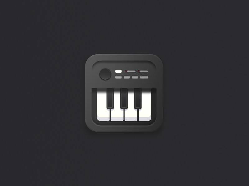 Musical icon piano vaslam