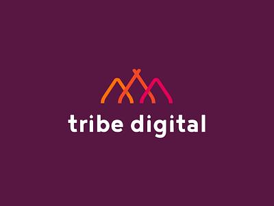 Tribe Digital Logo Design mark tribe symbol branding identity logotype logo design logo