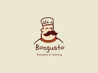 Bongusto Logo illustration logotype food visual  identity symbol logo design cooking sandwich vector character design identity brand identity branding logo