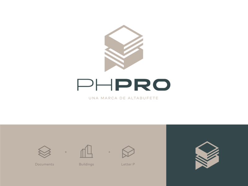 PHPRO Logo property real estate law firm corporate design letter building documents identity visual identity brandin logodesign logotype logomark logo design