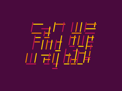 Way Back typographic typogaphy abstract vector