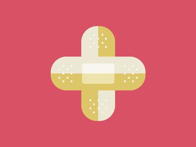 Bandage Cross Logo bandage design logo