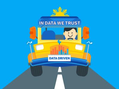Data-Driven Jeepney data science jeepney design character vector illustration
