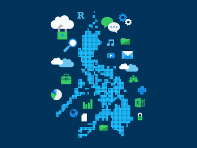 Data and the Philippines philippines design illustration vector