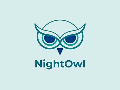 NightOwl Logo simple logo owl face night owl owl icon owl logo minimal logo logo