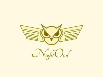 Night Owl Logo owl icon icon logo owl night owl simple logo minimal logo mini branding logo