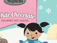 Stephen's Hot Cocoa Holiday Packaging - White Chocolate