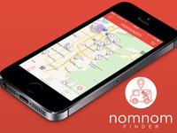 NomNom Finder App - User Interface
