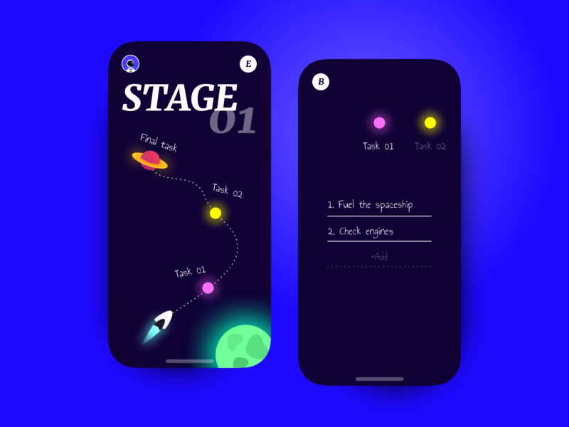 👨‍🚀Journey App 👩‍🚀 todo task product clean dark illustrator ui identity ios14 illustration app