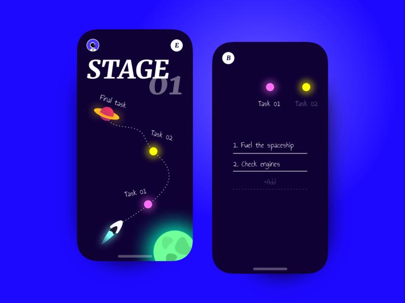 👨🚀Journey App 👩🚀 todo task product clean dark illustrator ui identity ios14 illustration app