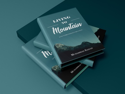 """Books Cover- """"LIVING TO MOUNTAIN"""" illustration graphic design book cover design book cover book"""