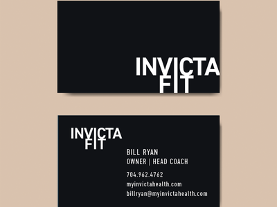 Invicta Fit Business Card graphic design brand identity branding business card