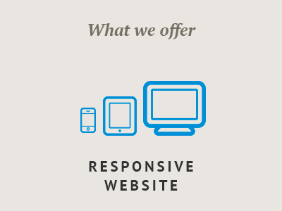 What we offer landing page pt sans geomicons pt serif