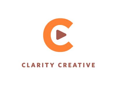Clarity logo branding orange weird brownish thing video motion graphics whitney gotham