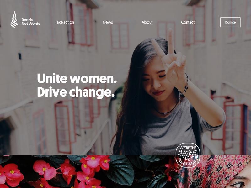 Deeds Not Words texas community progressive millennial pwd responsive non-profit