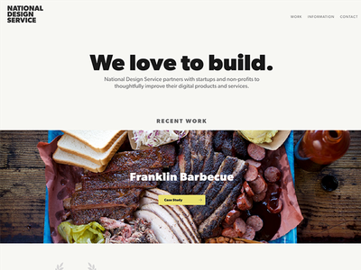 National Design Service 2017 barbecue gibson hugo responsive web design logo branding web development web design