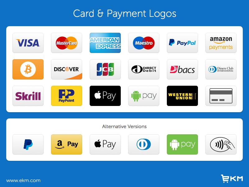 Credit Card & Payment Logos (Freebie) american express mastercard visa logos mcommerce ecommerce payment credit card resource freebie