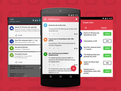 Hooks App Android material notification android hooks