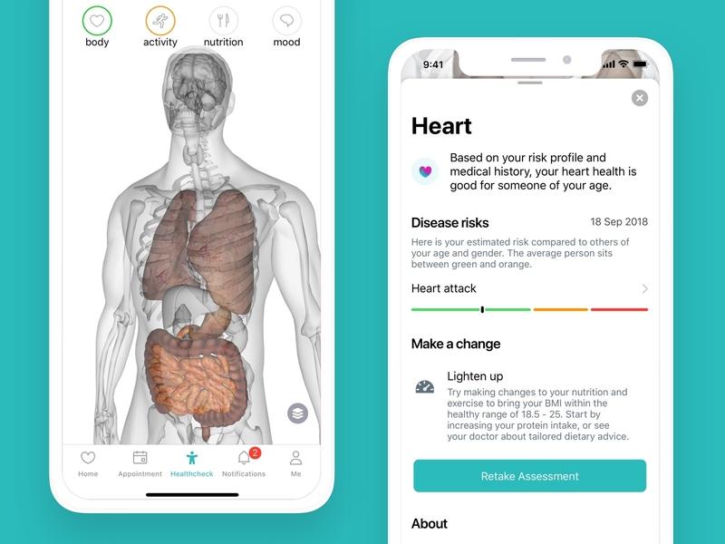 Babylon Healthcheck health ios ux design design ui mobile app ai