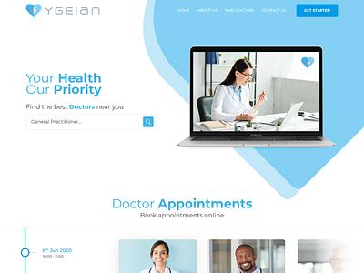 Ygeian medical design ygeian doctors healthcare medical care medical uidesign interactive ui design responsive website webdesign design ux ui
