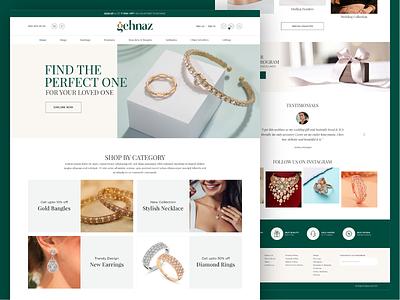 E-Commerce Website Design for Jewellery online shopping theme wocommerce shop jewellery online shop online gehnaz ecommerce jewelry jewellery branding logo ui design responsive website webdesign design ux ui