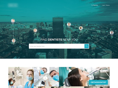 Dentists Search Website Design  directory search search-engine ux ui website doctors dentists