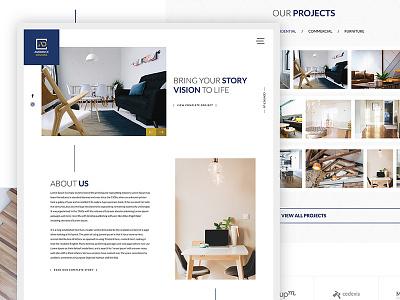 Ambience Designs Website company homedecor furniture uxdesign webdesign uidesign ui decorator interior designs ambience