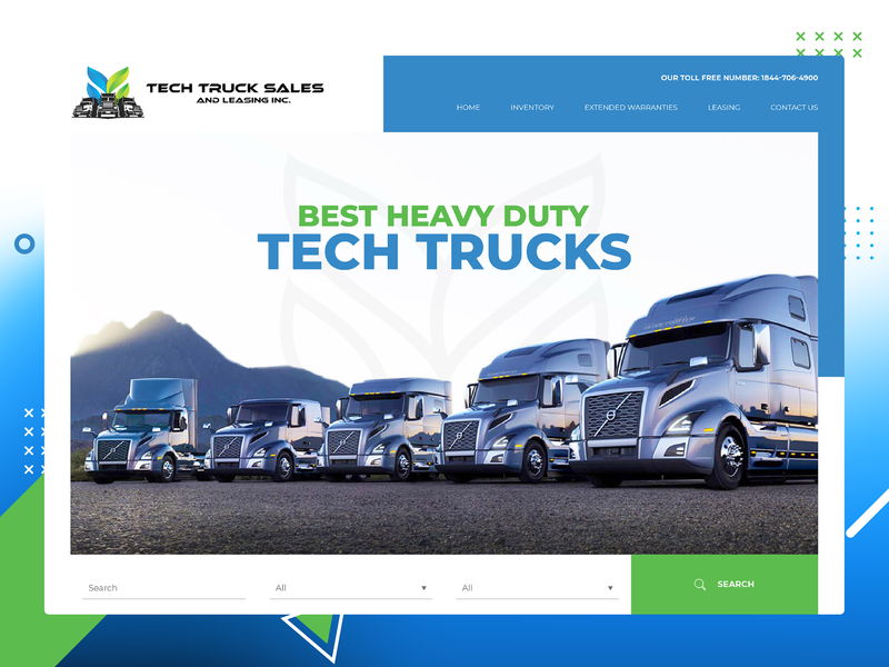 Tech Truck Website yovanverma yovan canada automotive auto tech truck tech truck vector company branding uidesign responsive design website webdesign ux ui