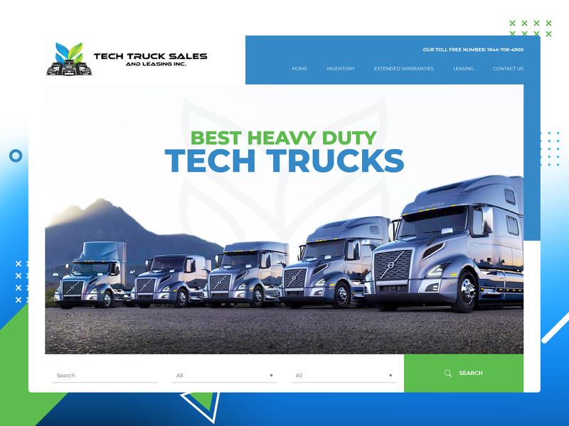 Tech Truck Website yovanverma yovan canada automotive auto tech truck tech truck vector company branding uidesign responsive design website webdesign ux ui