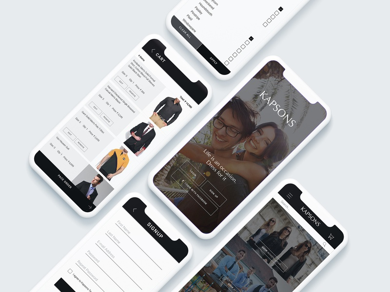 App Ui Design Kapsons application mobile phone app android app apple retail uxui apparel ecommerce online shopping lifestyle fashion kapsons design app
