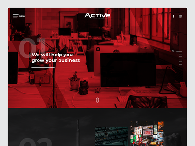 Website Design for Marketing Agency - Active Marketing Solutions responsive communication marketing solutions active ad saudi arabia agency website website design ux uiux ui webdesign website marketing agency agency
