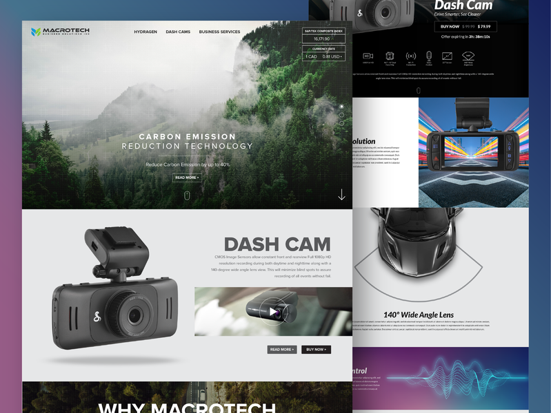 Macrotech Website Design environment friendly environment dashcam user inteface interaction design ui design canada responsive design ux ui webdesign website tech macrotech