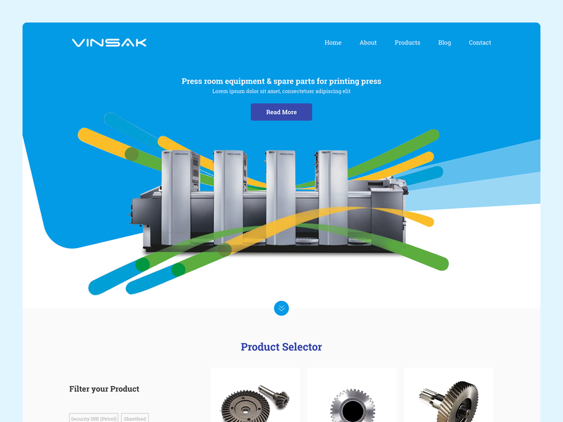 Vinsak Website Design ui design userinterface interacive printer parts parts india company vinsak printers uidesign responsive design website webdesign ux ui