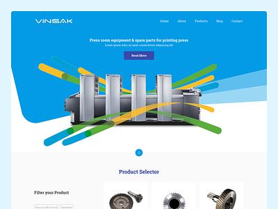 Vinsak Website Design ui design userinterface interacive printer parts parts india company vinsak printers uidesign responsive design website webdesign ux ui