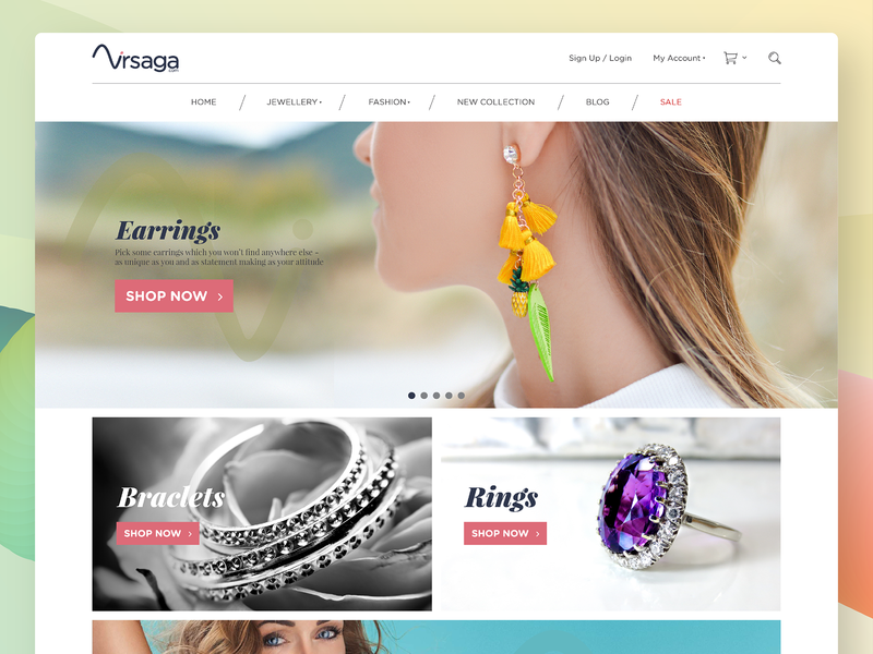 Jewellery Online Shoppig Website Design. woocommerce ecommerce online shopping shopping ux design uxdesign ui design design webdesign interactive uidesign ux ui responsive website jewels jewelry