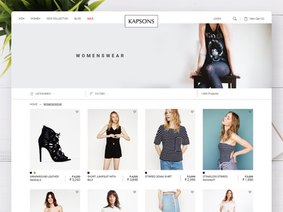 Online Shopping Product Listing Page filters inetractive ui design responsive design ux webdesign ui shop shoes womenswear kapsons products product listing lifestyle fashion online woocommerce ecommerce shopping