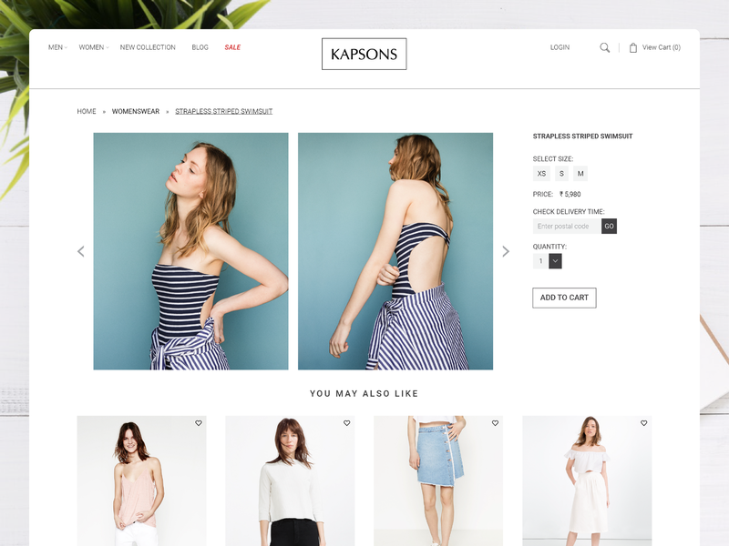 Online Shopping Product Detail Page ui design woocommerce interactive kapsons responsive website webdesign ux ui product detail page detail lifestyle fashion online shopping ecommerce design