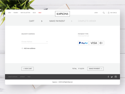 Payment Page Design for Kapsons payment online make payment online shopping lifestyle website ecommerce design retail fashion responsive ui design webdesign woocommerce ecommerce design ux ui
