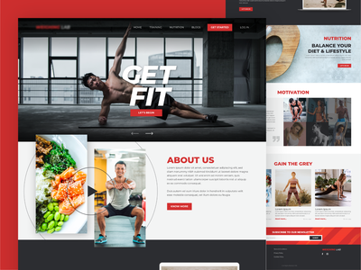 Fitness and Nutrition Website excercise responsive ux clean webdesig web ui nutritionist nutrition workout fitness training