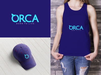 Orca Logo Design icon typography vector illustration graphicdesign trending royal blue blue apparel fashion whale killer whale design logo orca